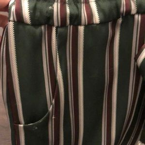 Alexis Pants - Alexis Striped adjustable Satin Jumpsuit